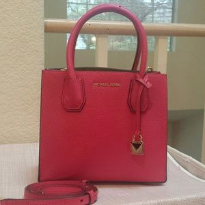 Authentic Michael Kors Mercer Hot Pink Like New